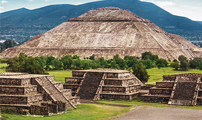 Photo of Aztec pyramids